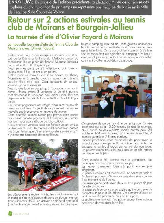 Un partenariat qui roule avec le TENNIS CLUB MOIRANS