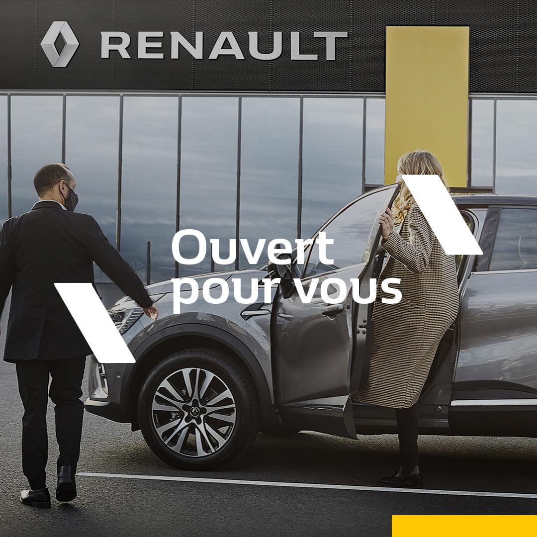 Dès ce week-end, notre réseau Renault vous ouvre à nouveau ses portes !   Nos éq...